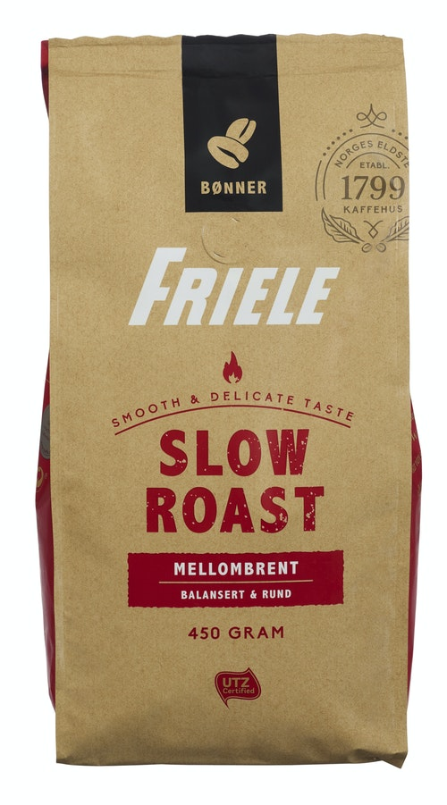 Friele Friele Slow roast Medium Utz Hele bønner, 450 g