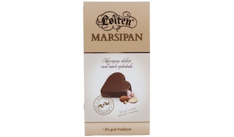 Marsipansjokolade Hjerteformet