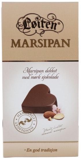 Løiten Marsipansjokolade Hjerteformet 150 g