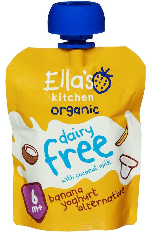 Ella's Kitchen Yoghurt Melkefri Banan Fra 6 mnd, 90 g
