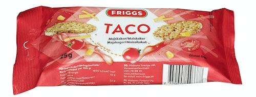 Friggs Maiskaker Snackpack Taco Glutenfri, 25 g