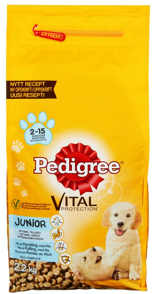 Pedigree Junior Kylling & Ris 2,2 kg