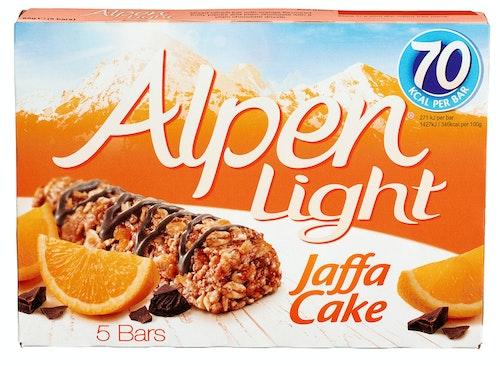 Alpen Alpen Bars Light Jaffacake, 5 stk, 95 g