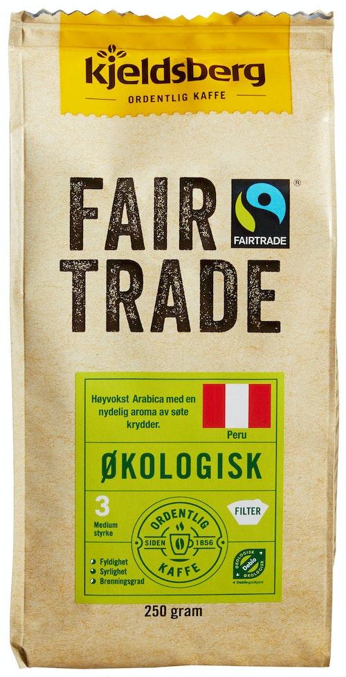 Kjeldsberg Kaffebrenneri Fairtrade Kaffe Filtermalt Økologisk, 250 g