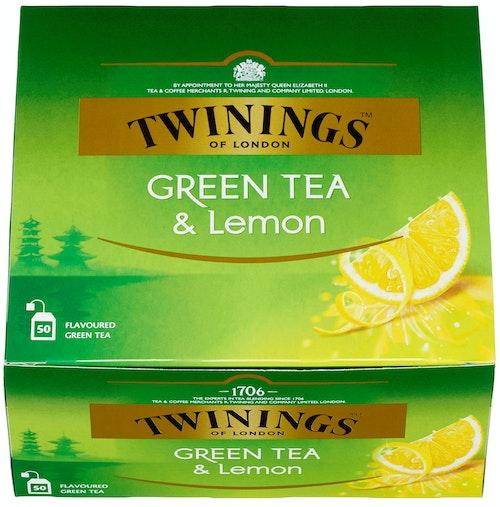 Twinings Grønn Te Sitron 50 poser, 50 stk