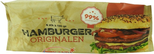 Kanda Original Hamburger 4 Stk, 520 g