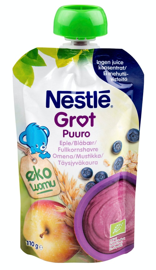 Nestlé Grøt Eple Blåbæsmoothie Økologisk, 110 g