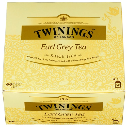 Twinings Twinings Earl Grey 50 poser, 50 stk