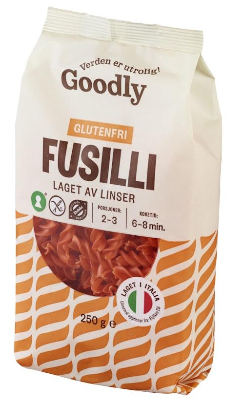 Goodly Linsepasta Fusilli Økologisk Glutenfri, 250 g