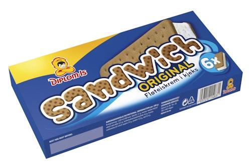 Diplom-Is Sandwich Original 6pk, 0,72 l