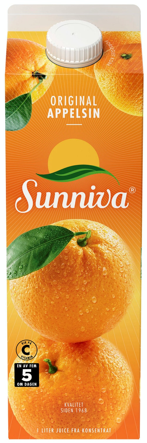 Sunniva Appelsinjuice 1 l
