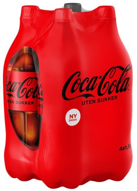 Coca-Cola Coca-Cola Uten Sukker 4 X 1,5l, 6 l