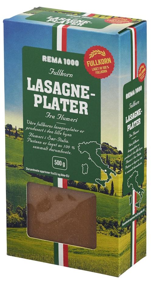 REMA 1000 Lasagneplater Fullkorn 500 g