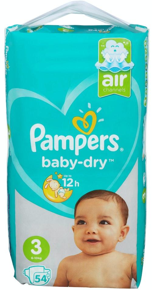 Pampers Pampers Bleie Baby Dry Str.3 6-10kg, 54 stk