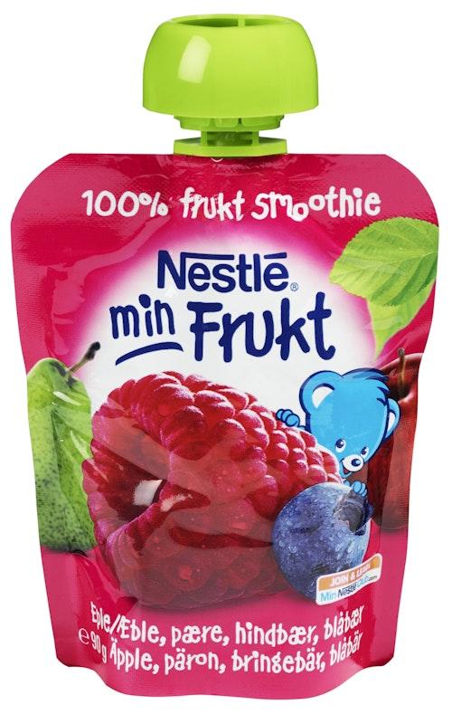 Nestlé Min Frukt Eple&Bringebær Smoothie Fra 6 mnd, 90 g