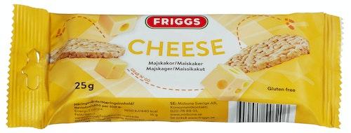 Friggs Maiskaker Snackpack Cheese Glutenfri, 25 g