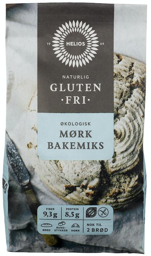 Helios Økologisk Mørk Bakemiks Glutenfri, 600 g