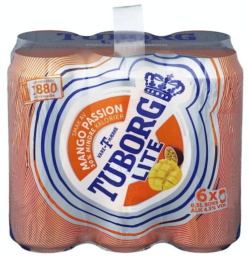 Tuborg Tuborg LITE Mango & Passion 6 x 0,5l, 3 l