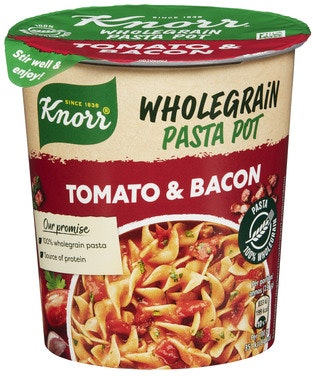 Knorr Knorr Snack Pot Wholegrain Tomato & Bacon 1 stk