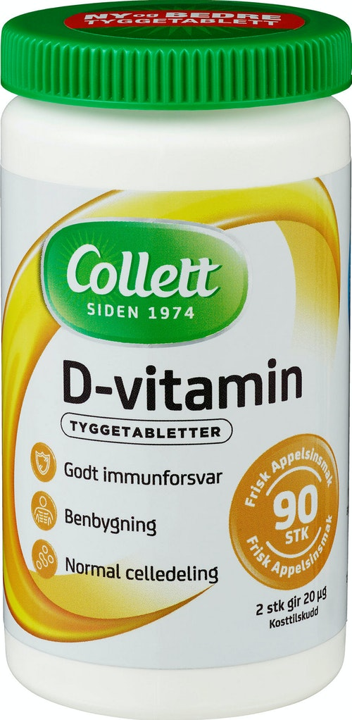 Collett D-vitamin 90 stk