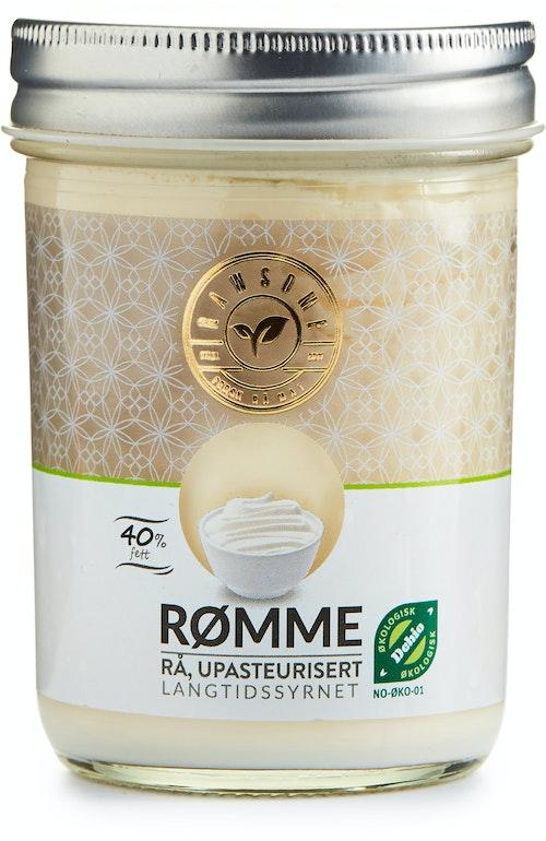 Rawsome Upasteurisert Rå Rømme 40%, 250 ml