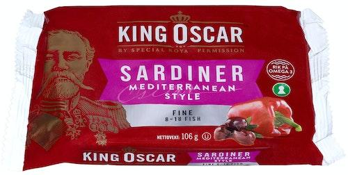 King Oscar Sardiner Mediterranean Style Fine, 106 g