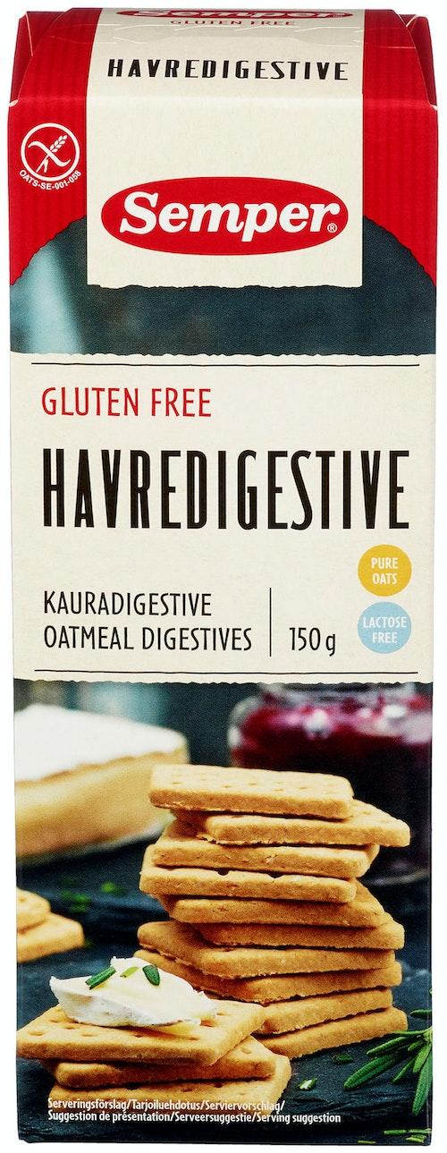 Semper Havre Digestive Glutenfri, 150 g