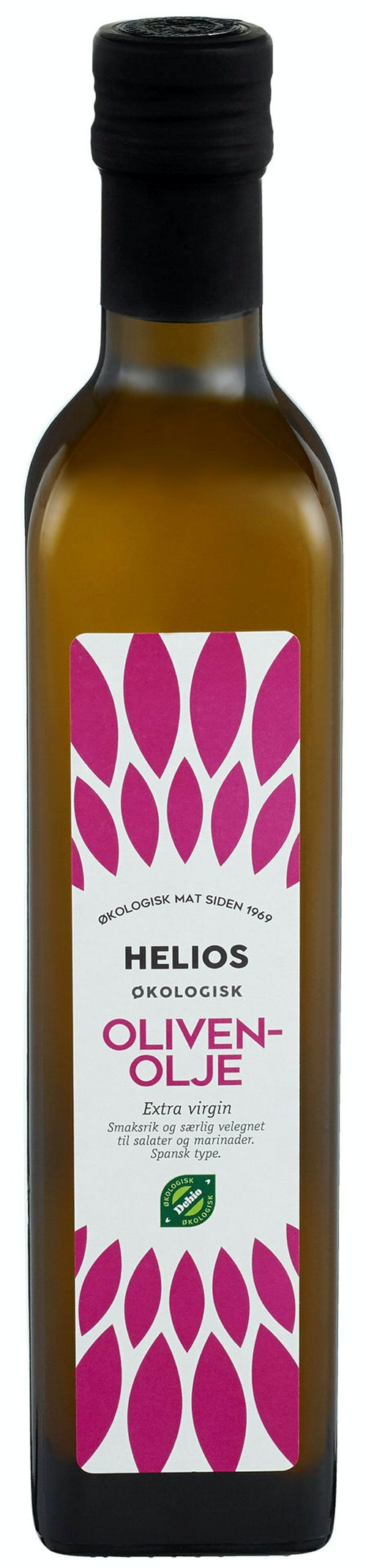 Helios Olivenolje Spansk Extra Virgin Økologisk, kaldpresset, 0,5 l