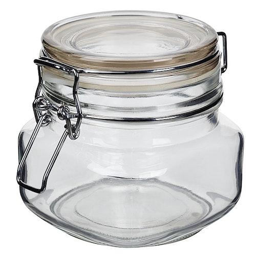 Glasskrukke med lokk 1,0l 1 stk