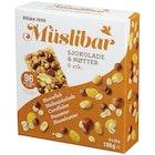 Müslibar Sjokolade og Nøtter 23g 6pk
