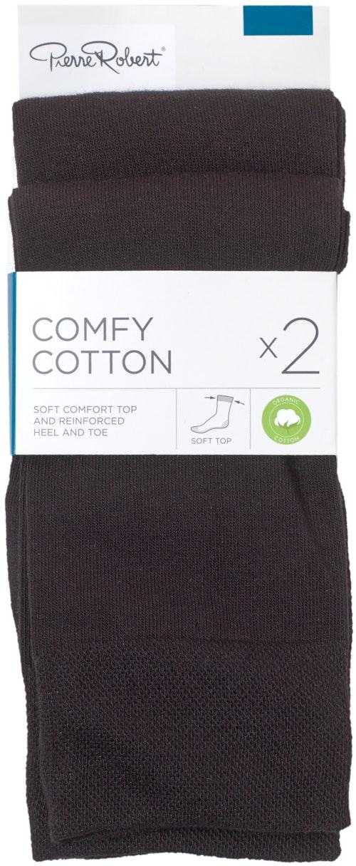 Pierre Robert Comfy Cotton Sokker Str. 41-45, 2 par