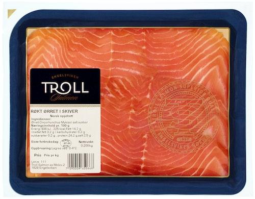 Troll Salmon Røkt Ørret i Skiver 200 g