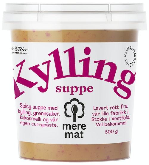 Mere Mat Suppe med Kylling, Curry & Grønnsaker 500 g