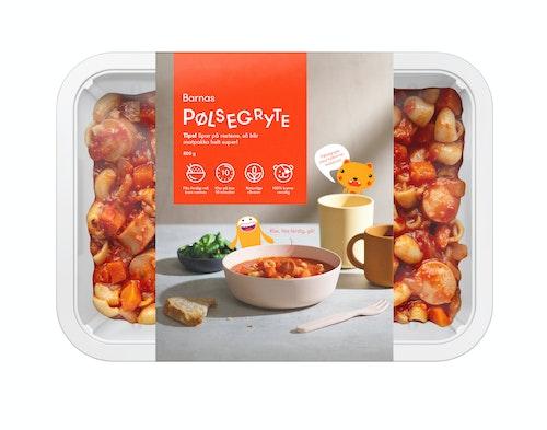 Oda Barnas Pølsegryte i Tomatsaus Med Fullkorn makaroni Fiks ferdig, 2 Porsjoner, 800 g