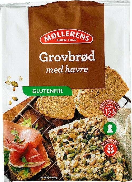 Møllerens Grovbrød med Havre Glutenfri, 414 g