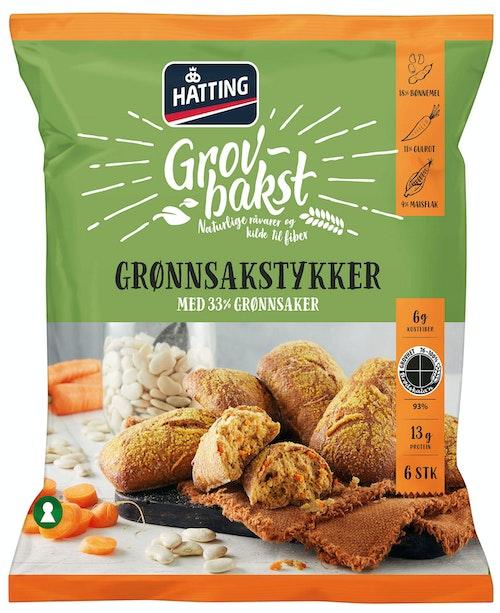 Hatting Grønnsakstykker 6 stk, 402 g