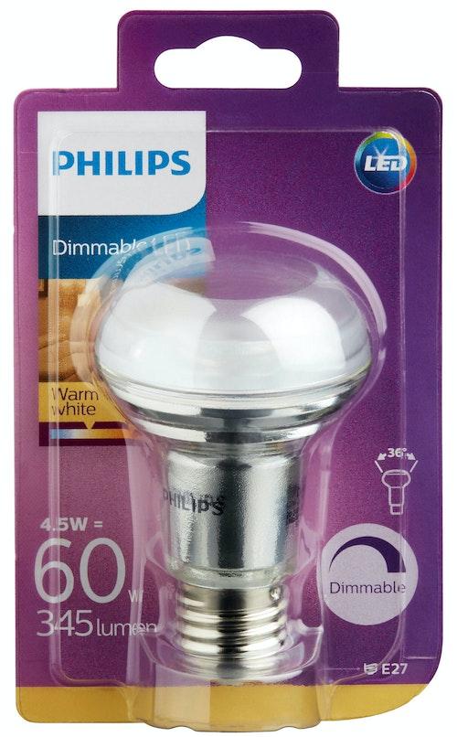 Philips Lyspære Led Reflektor R63, 60w, E27 Varmhvit 36d Dim, 1 stk