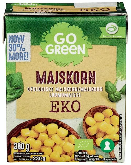 Go Green Maiskorn Økologisk, 380 g
