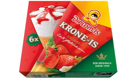 Krone-Is Jordbær