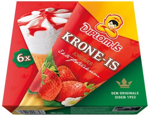 Diplom-Is Krone-Is Jordbær 6 stk