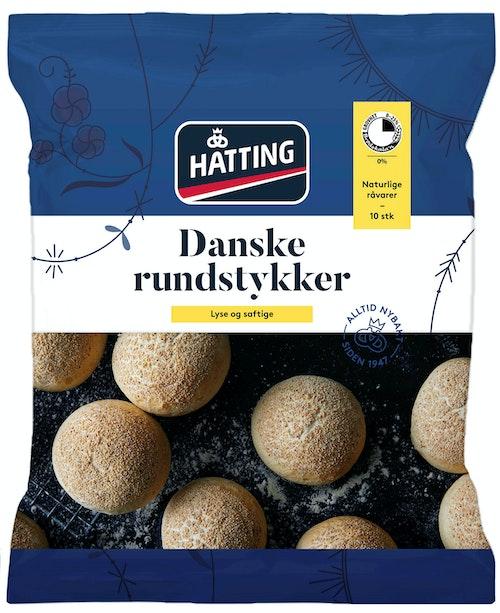 Hatting Danske Rundstykker 10 stk, 500 g