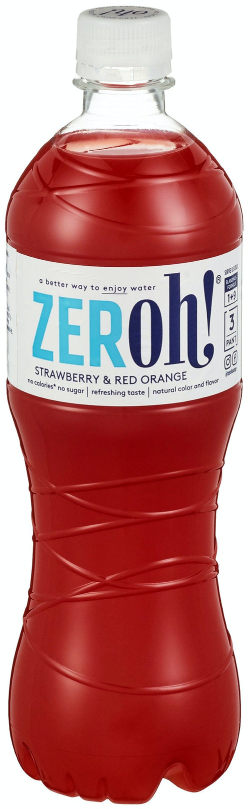 Zeroh! Strawberry & Red Orange 0,8 l