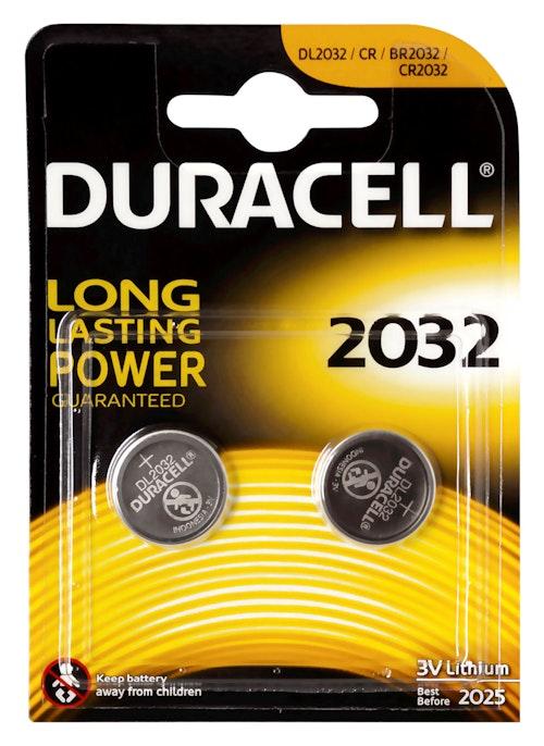 Duracell Batteri 2032 3V Lithium 2 stk