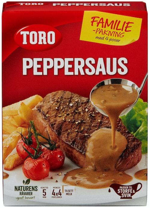 Toro Peppersaus Økonomipakke, 4 poser, 84 g