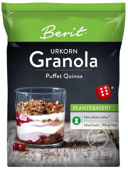 Berit Nordstrand Granola Puffet Quinoa 350 g