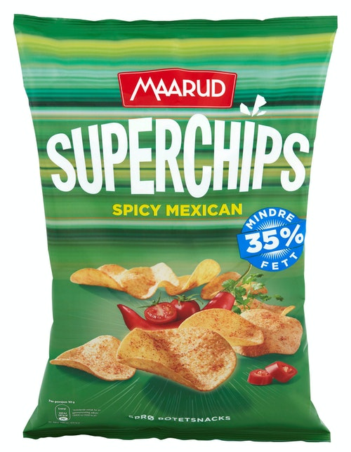 Maarud Superchips Spicy Mexican 135 g