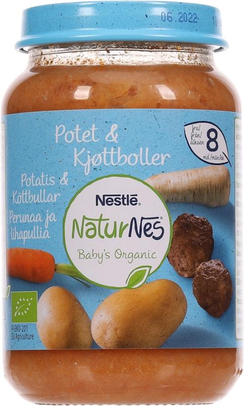 Nestlé NaturNes Potetmos & Kjøttkaker Fra 8 mnd, 190 g