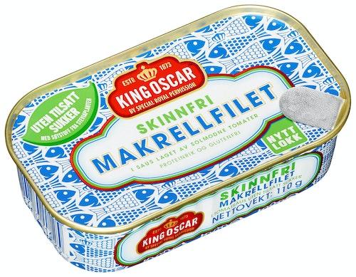 King Oscar Skinnfri Makrell Stevia 110 g
