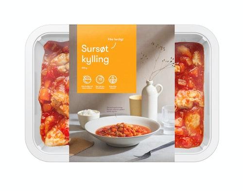 Oda Kylling Sweet & Sour Fiks ferdig, 2 Porsjoner, 800 g