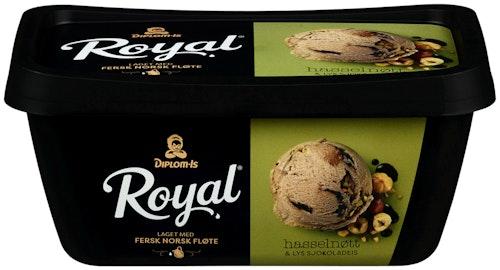 Diplom-Is Royal Hasselnøtt 0,9 l